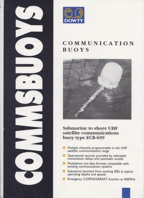 Dowty Maritime Systems - Communications Buoys | Original photo in the Dowty archive at the Gloucestershire Heritage Hub