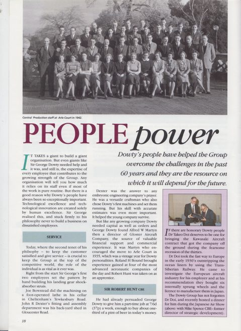 Dowty Group - Dowty World 60th Anniversary Issue June 1991 | Original photo in the Dowty archive at the Gloucestershire Heritage Hub