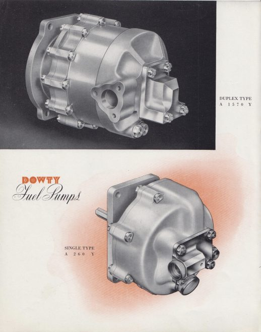 Dowty Equipment - Fuel Pumps | Original photo in the Dowty archive at the Gloucestershire Heritage Hub
