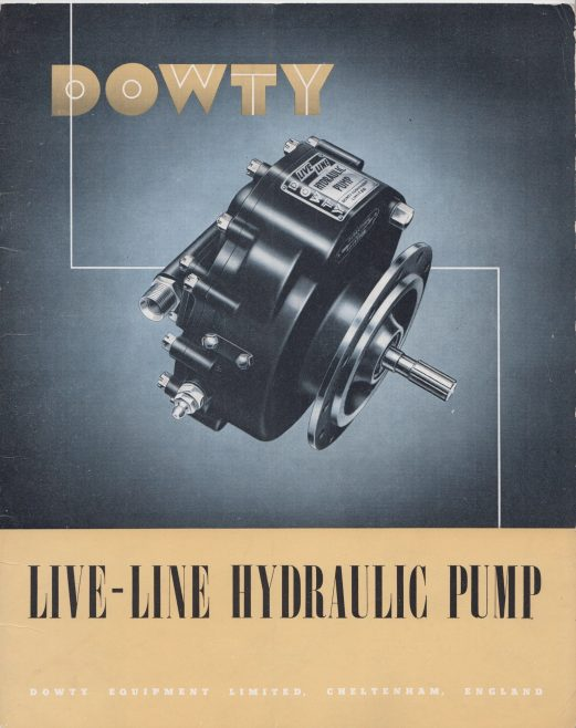 Dowty Equipment - Live-Line Hydraulic Pump | Original photo in the Dowty archive at the Gloucestershire Heritage Hub