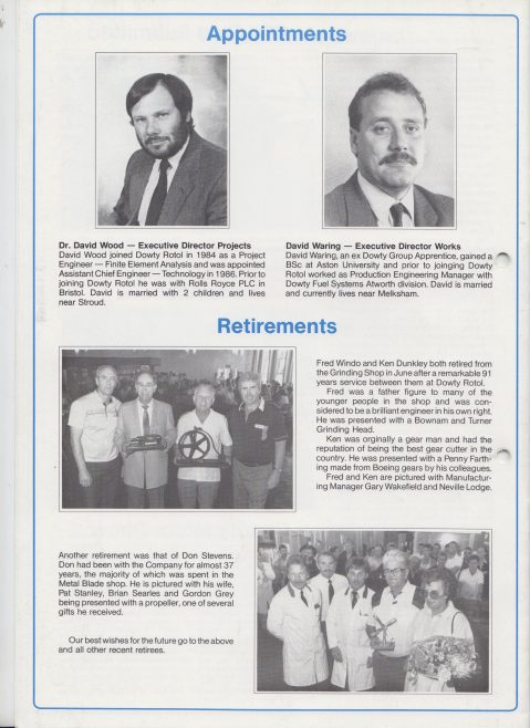Dowty Rotol - Newsletter September 1989 | Original photo in the Dowty archive at the Gloucestershire Heritage Hub