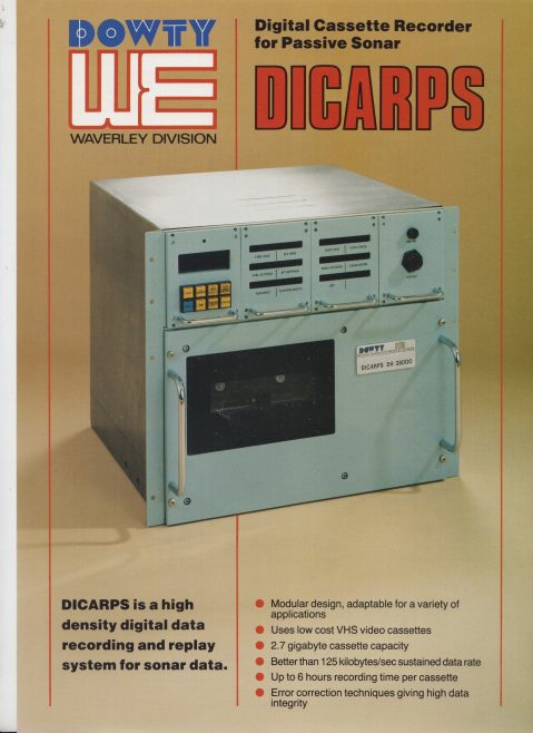 Dowty Maritime Systems - DICARPS (Digital Cassette Recorder for Passive Sonar) | Original photo in the Dowty archive at the Gloucestershire Heritage Hub