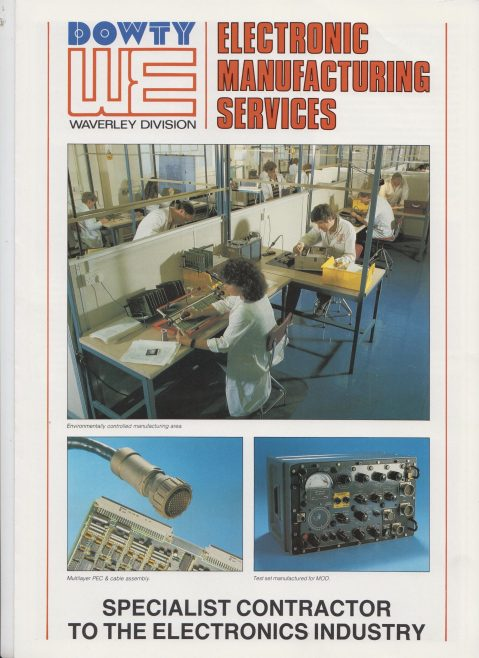 Dowty Maritime Systems - Electronic Manufacturing Services | Original photo in the Dowty archive at the Gloucestershire Heritage Hub
