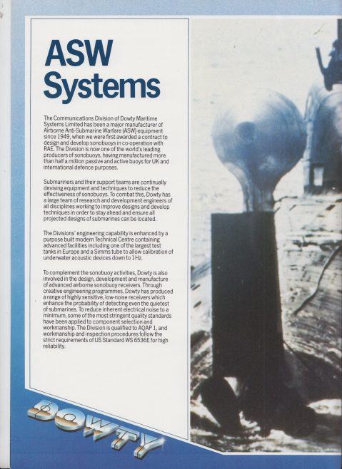Dowty Maritime Systems - ASW Systems | Original photo in the Dowty archive at the Gloucestershire Heritage Hub