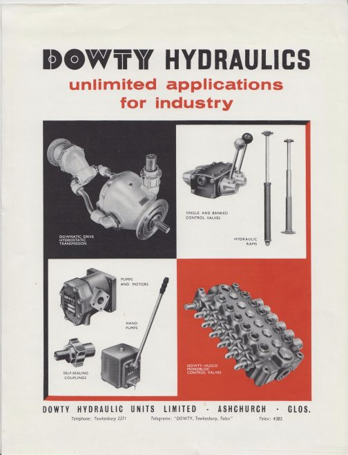 Dowty Hydraulic Units - Unlimited Applications for Industry | Original photo in the Dowty archive at the Gloucestershire Heritage Hub