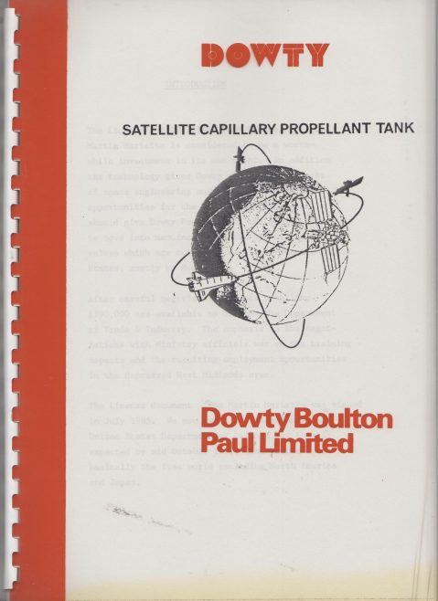 Dowty Boulton Paul - Satellite Capillary Propellant Tank | Original photo in the Dowty archive at the Gloucestershire Heritage Hub