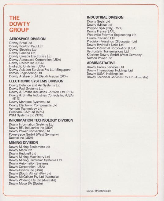 Dowty Group - How to Reach Dowty Group factories in Gloucestershire | Original photo in the Dowty archive at the Gloucestershire Heritage Hub