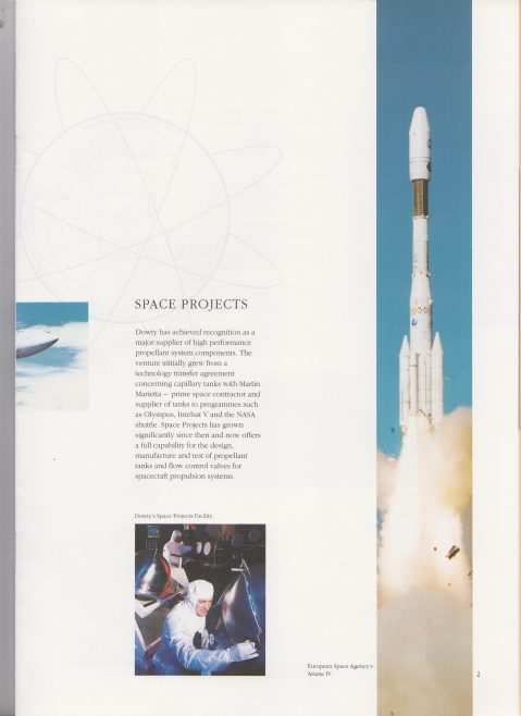 Dowty Aerospace - Space Projects | Original photo in the Dowty archive at the Gloucestershire Heritage Hub