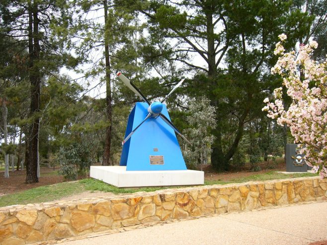 Canberra, Australia - The Dowty-Rotol propeller symbolises, according to the plaque, the Royal Australian Air Force's operational and heritage links with the national capital, and the supporting structure reflects the strength of its people. | J W Redfern