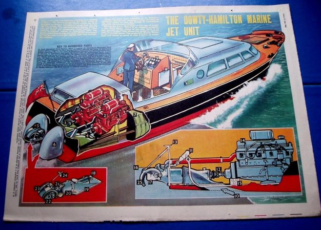 OK... who else use to get the EAGLE comic... remember Dan Dare, Pilot of the Future, to PC 49, Harris Tweed, Extra Special Agent and Jeff Arnold in Riders of the Range.... don't forget the cut away centre-folds like the one below! The Dowty-Hamilton Marine Jet Unit | eBay