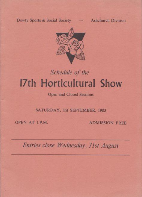 Dowty Ashchurch - 17th Horticultural Show Saturday 3rd September 1983 | Alan Hendry