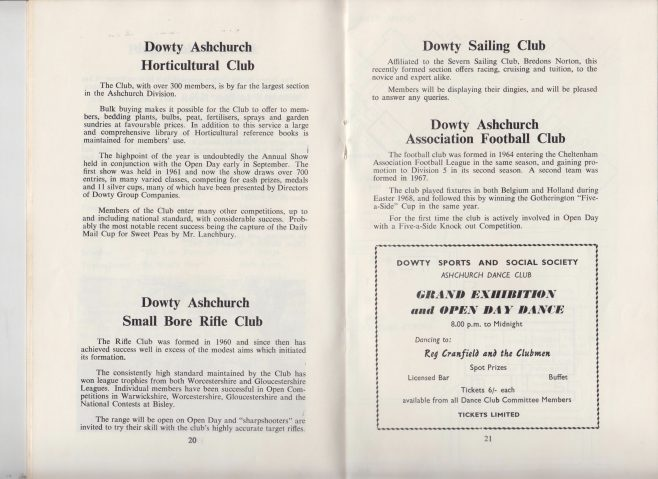 Dowty Ashchurch - Exhibition & Open Day Saturday 6th September 1969 | Alan Welland