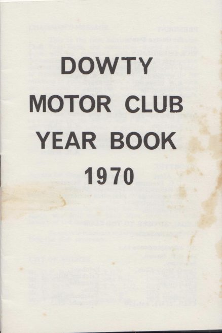 Dowty Motor Club - Year Book 1970 | Thanks to Sue Daly