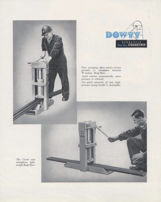 Dowty Mining Equipment - Hydraulic Roof Bar Straightener
