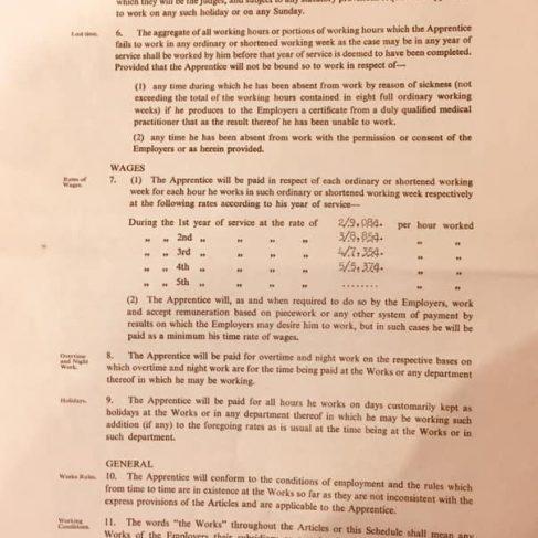 Alan Clive Jinks 1970 - Apprentice Indenture Agreement | Alan Jinks