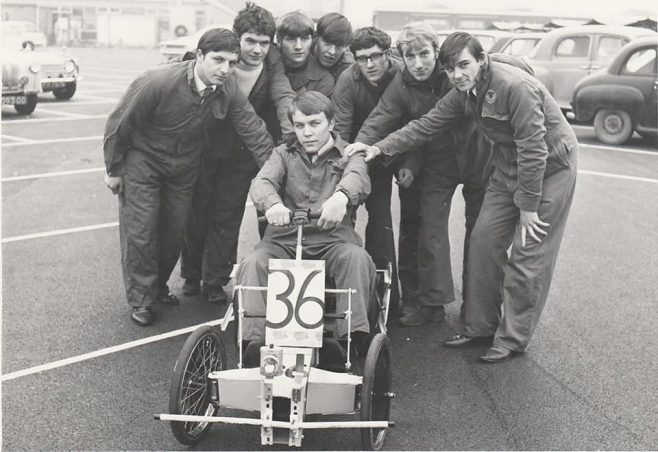 1967 and 1968 Pedal car racers for the Bristol university 24 hour race | Alan Jinks