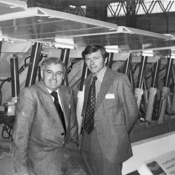 CUMM International Mining Exhibition Birmingham 1977 - On the right Bob Harris | Jill Goldstone