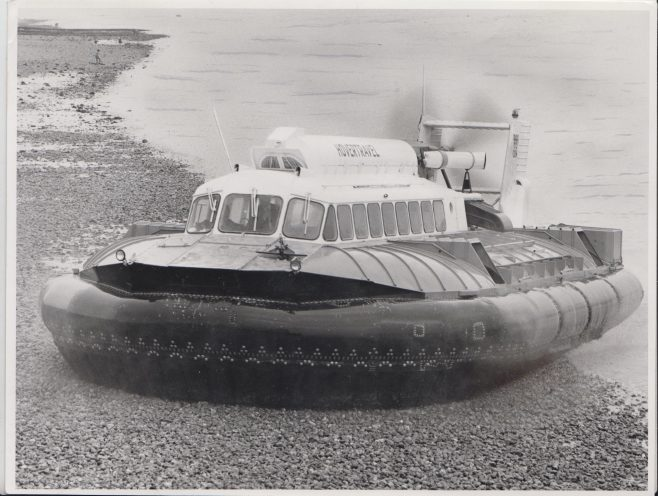 Hovertravel SRN 6 Hovercraft | Original photo in the Dowty archive at the Gloucestershire Heritage Hub
