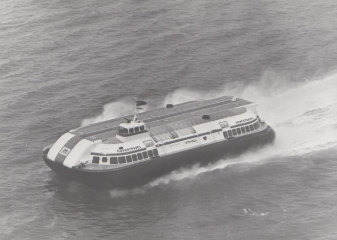 SRN 4 Hovercraft | Original photo in the Dowty archive at the Gloucestershire Heritage Hub
