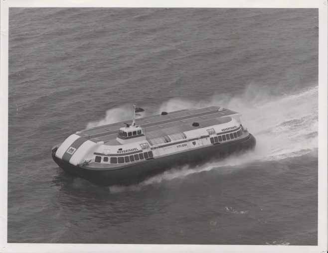 Hovertravel Hovercraft | Original photo in the Dowty archive at the Gloucestershire Heritage Hub