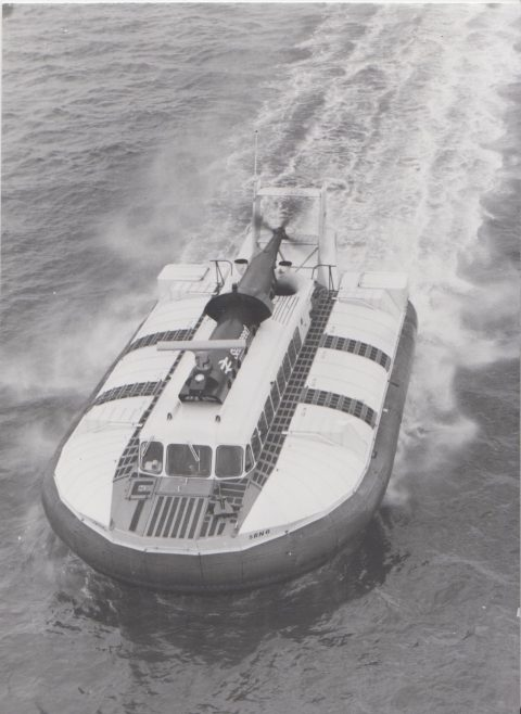Westland SRN 6 Hovercraft | Original photo in the Dowty archive at the Gloucestershire Heritage Hub