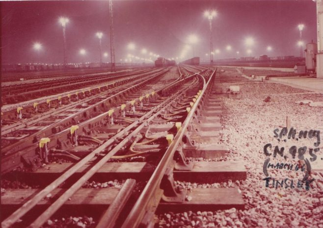 Tinsley Marshalling Yard - installed with Dowty Wagon Control System c. 1974 | Original photo in the Dowty archive at the Gloucestershire Heritage Hub