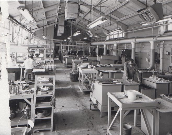 Heat Treatment c.1974 | Original photo in the Dowty archive at the Gloucestershire Heritage Hub