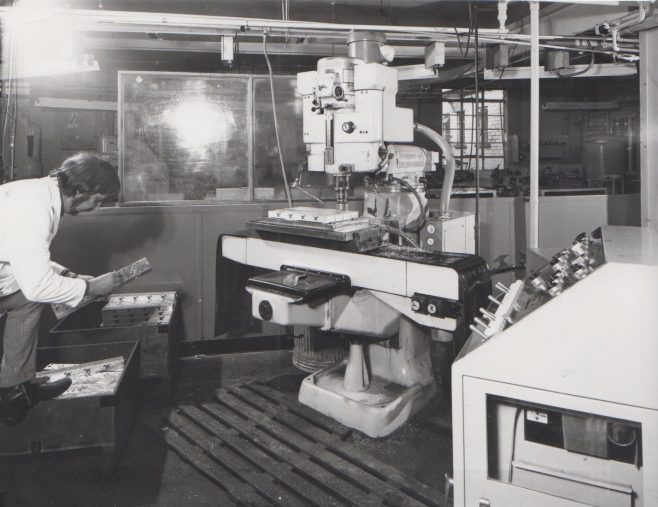 Jig Boring c.1974   Original photo in the Dowty archive at the Gloucestershire Heritage Hub