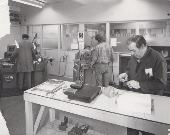 Tool & Cutter Workshop c.1974 | Original photo in the Dowty archive at the Gloucestershire Heritage Hub