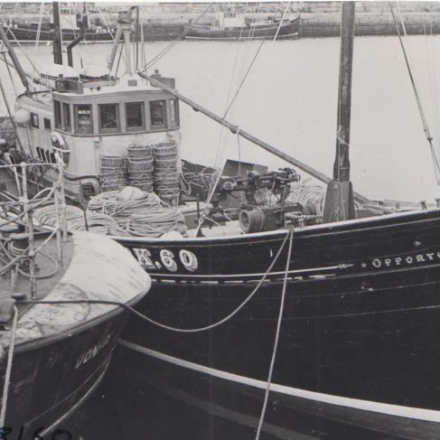 Opportune II Fishing Trawler fitted with Dowmax drive system (Jul 1967) | Original photo in the Dowty archive at the Gloucestershire Heritage Hub