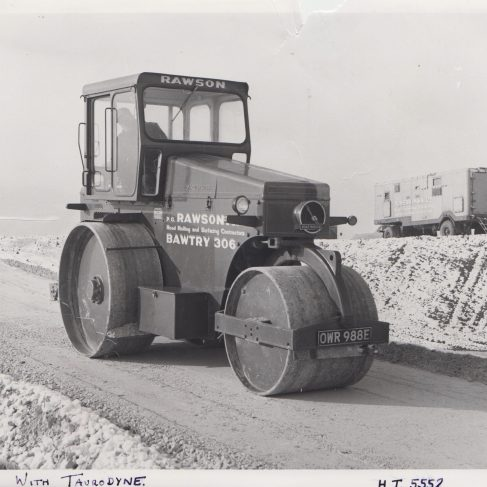 Rawson Road Roller (Mar 1971) with Taurodyne drive system | Original photo in the Dowty archive at the Gloucestershire Heritage Hub