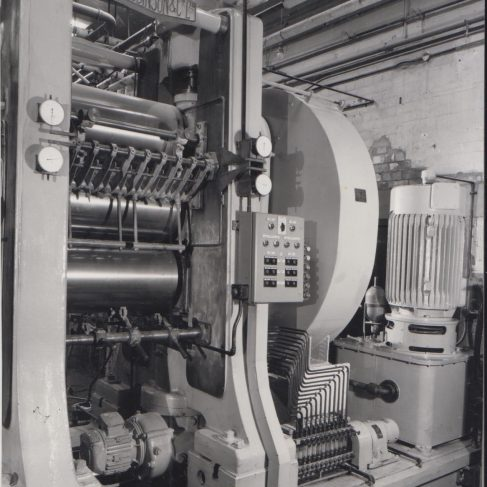 Rubber mill at Ashchurch with Dowmax drive system | Original photo in the Dowty archive at the Gloucestershire Heritage Hub