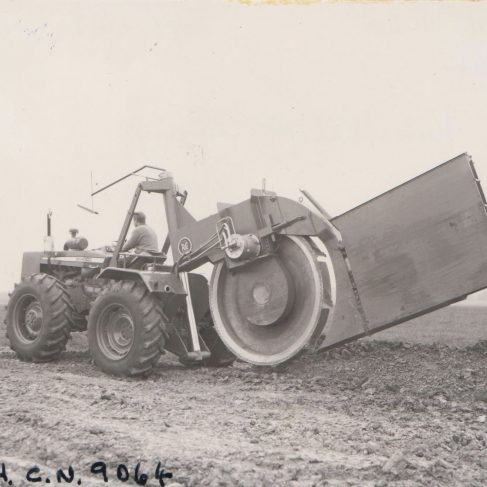 Dowmax drive systems on agriculture equipment | Original photo in the Dowty archive at the Gloucestershire Heritage Hub