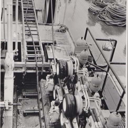 Dowmax drive system on cable laying vessel | Original photo in the Dowty archive at the Gloucestershire Heritage Hub