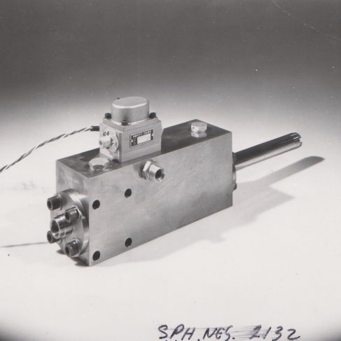 Powered flying control unit | Original photo in the Dowty archive at the Gloucestershire Heritage Hub