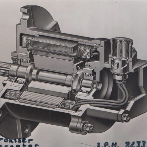 Synchroniser Alternator | Original photo in the Dowty archive at the Gloucestershire Heritage Hub