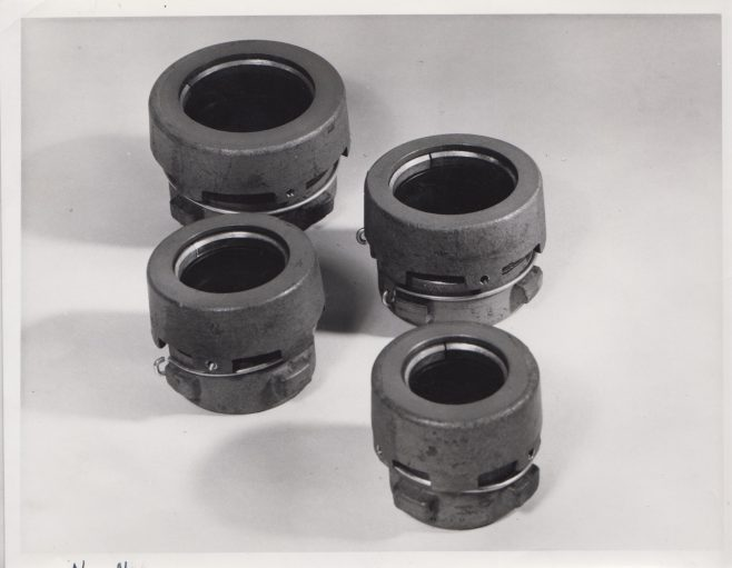 Pipe Connectors fitted with Dowty Metal Seals | Original photo in the Dowty archive at the Gloucestershire Heritage Hub