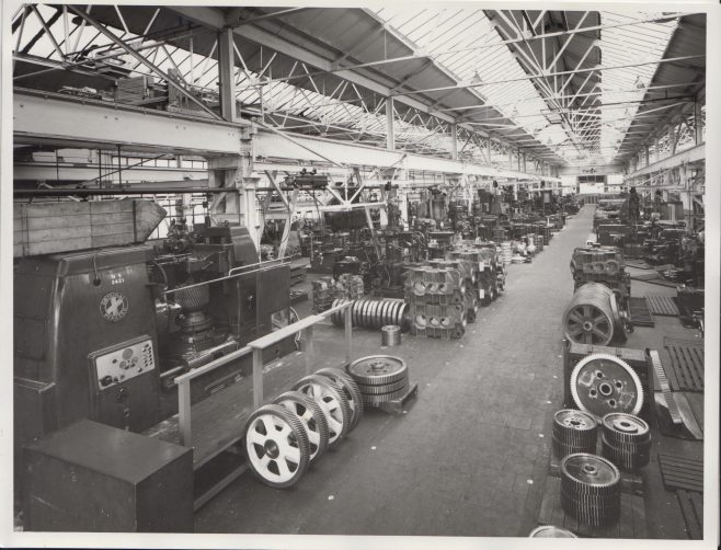 Machine Shop | Original photo in the Dowty archive at the Gloucestershire Heritage Hub