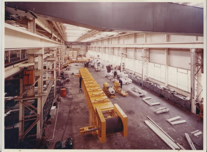 Conveyer System for the Canadian market | Original photo in the Dowty archive at the Gloucestershire Heritage Hub