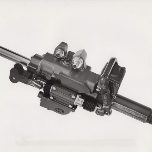 One of the twin Boulton Paul actuators which are arranged in parallel to operate the rudder of the BAC 1-11 | Original photo in the Dowty archive at the Gloucestershire Heritage Hub
