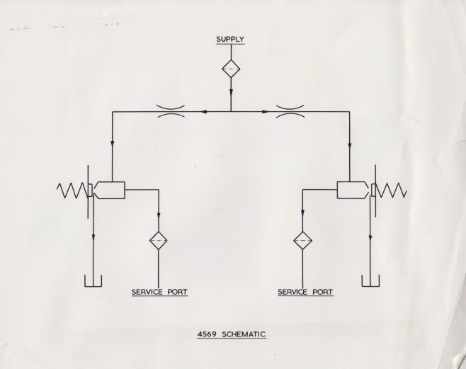 Schematic diagram of Dowty 4569 Servo Valve | Original photo in the Dowty archive at the Gloucestershire Heritage Hub