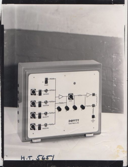 Dowty Servo Valve Control Box | Original photo in the Dowty archive at the Gloucestershire Heritage Hub