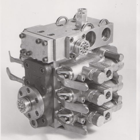 Modular Valve System | Original photo in the Dowty archive at the Gloucestershire Heritage Hub