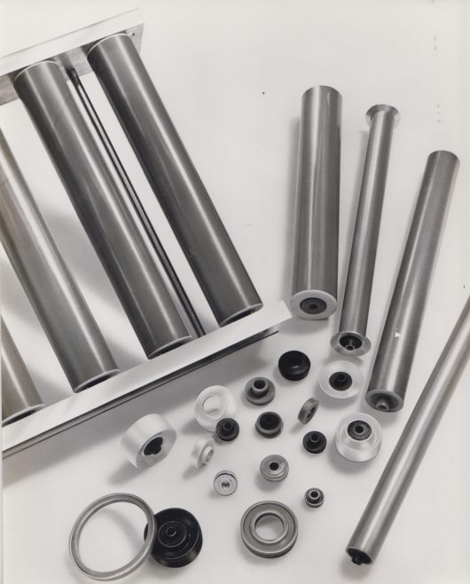 Dowty Seals Glidewheels and Rollers | Original photo in the Dowty archive at the Gloucestershire Heritage Hub