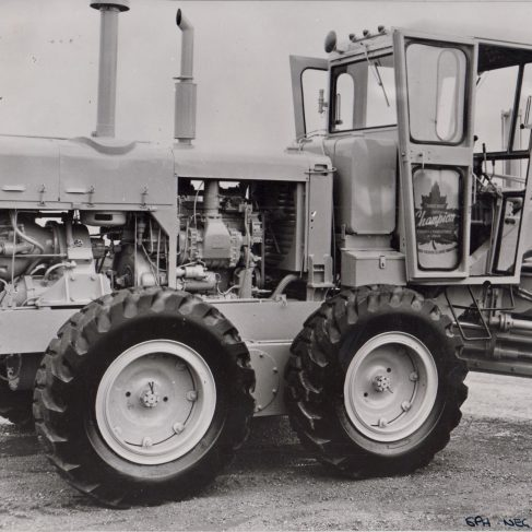 Tractor with Dowmatic Drive System | Original photo in the Dowty archive at the Gloucestershire Heritage Hub