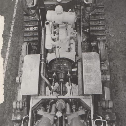 Dowmatic Drive System fitted to the International Bulldozer | Original photo in the Dowty archive at the Gloucestershire Heritage Hub
