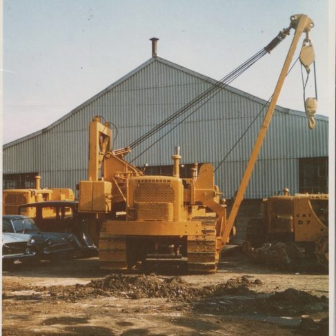 Dowmatic Drive System fitted to crane | Original photo in the Dowty archive at the Gloucestershire Heritage Hub