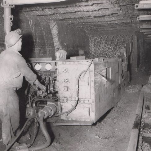 Dowty Mining Equipment - Work at the Coal Face | Original photo in the Dowty archive at the Gloucestershire Heritage Hub