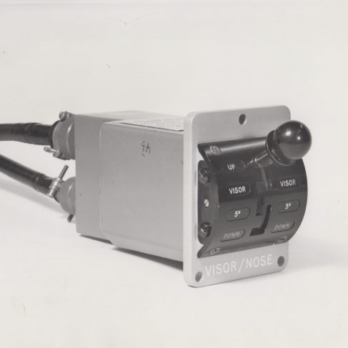 Dowty Electrics - Concorde Nose Control Switch | Original photo in the Dowty archive at the Gloucestershire Heritage Hub