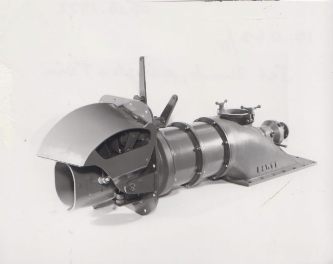 Dowty Turbo Jet c.1970-72 | Original photo in the Dowty archive at the Gloucestershire Heritage Hub